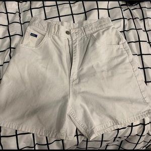 White Lee Denim Shorts